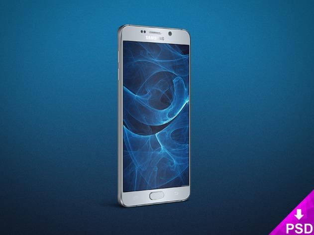Samsung Galaxy Note 5 Angle Mockup PSD