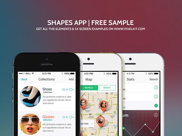 Shapes Mobile UI