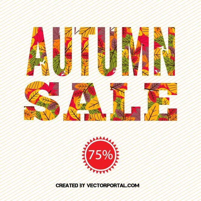 AUTUMN SALE VECTOR POSTER