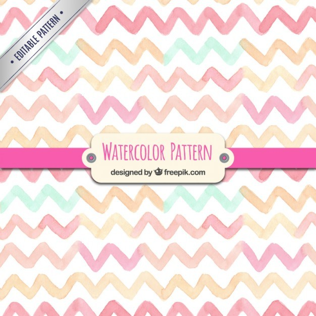 Watercolor zigzag pattern