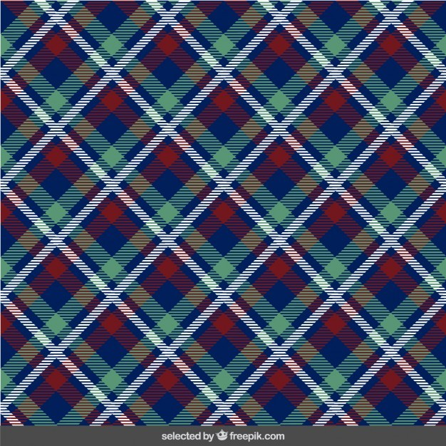 Frabric with tartan pattern