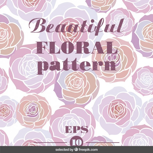 Pink beautifuol floral pattern