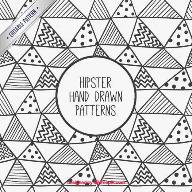 Hand drawn hipster triangles pattern