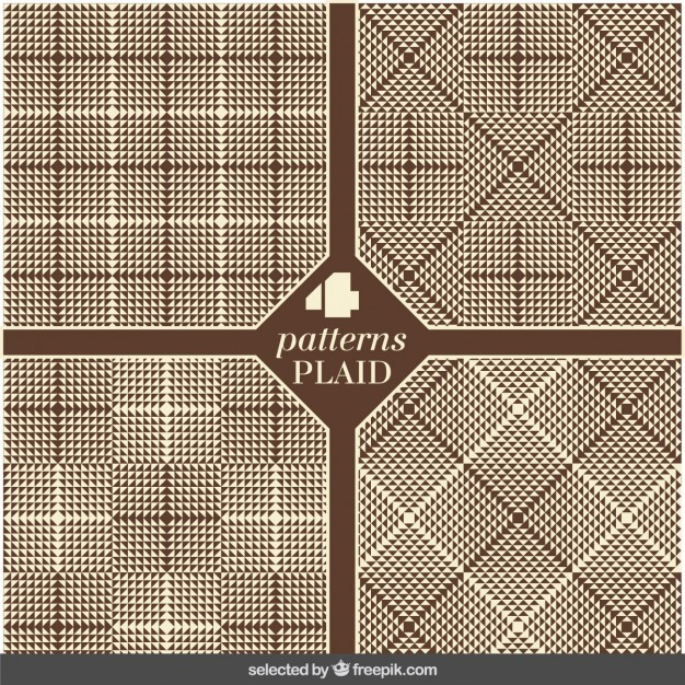 Set of plaid brown patterns