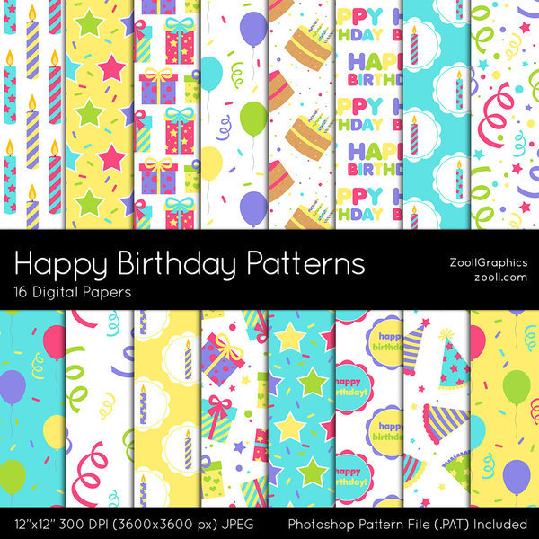 Happy Birthday Patterns