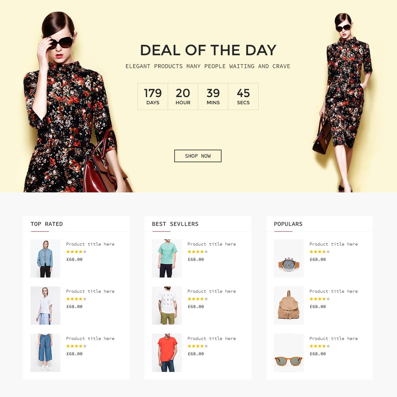 Shopping Template UI Kit