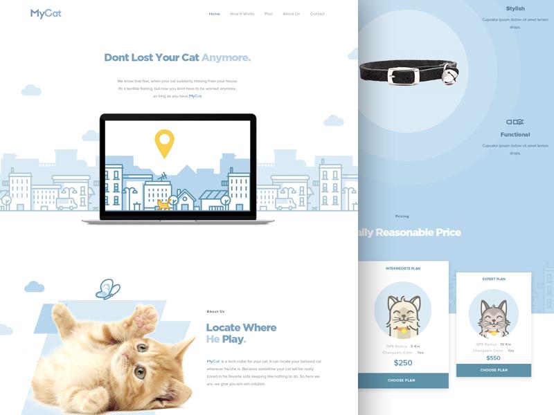 Mycat Landing Page PSD