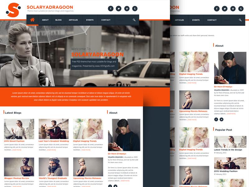 Blog & Magazine Type Website Template
