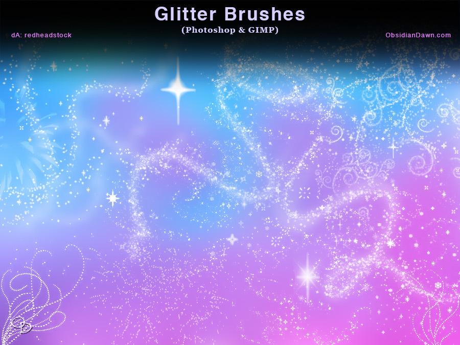 Glitter + Sparkles Photoshop and GIMP Brushes