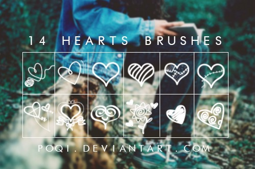 {14 Hearts Brushes}