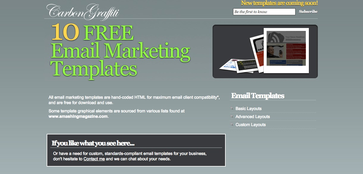 10 Free Email Marketing Template
