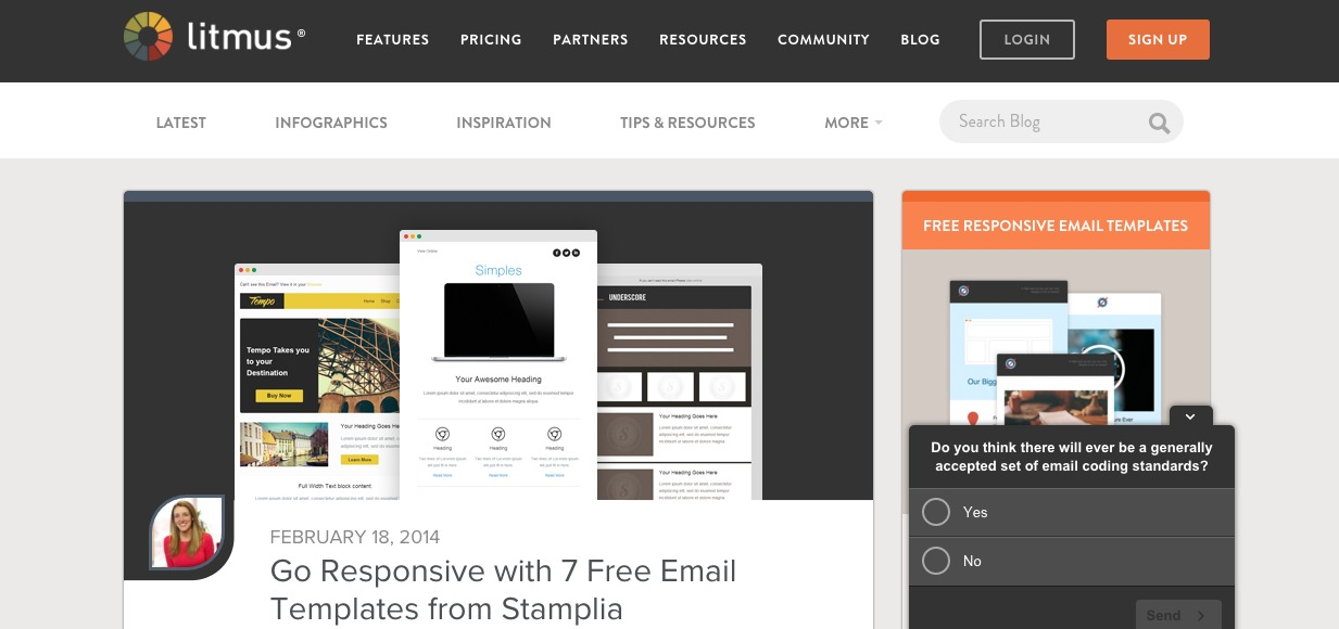 Go Responsive with 7 Free Email Templates from Stamplia|Litmus