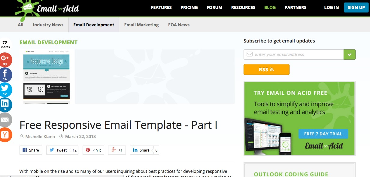 Free Responsive Email Template - Part I|Email On Acid