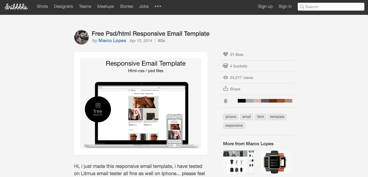 Free Psd/html Responsive Email Template