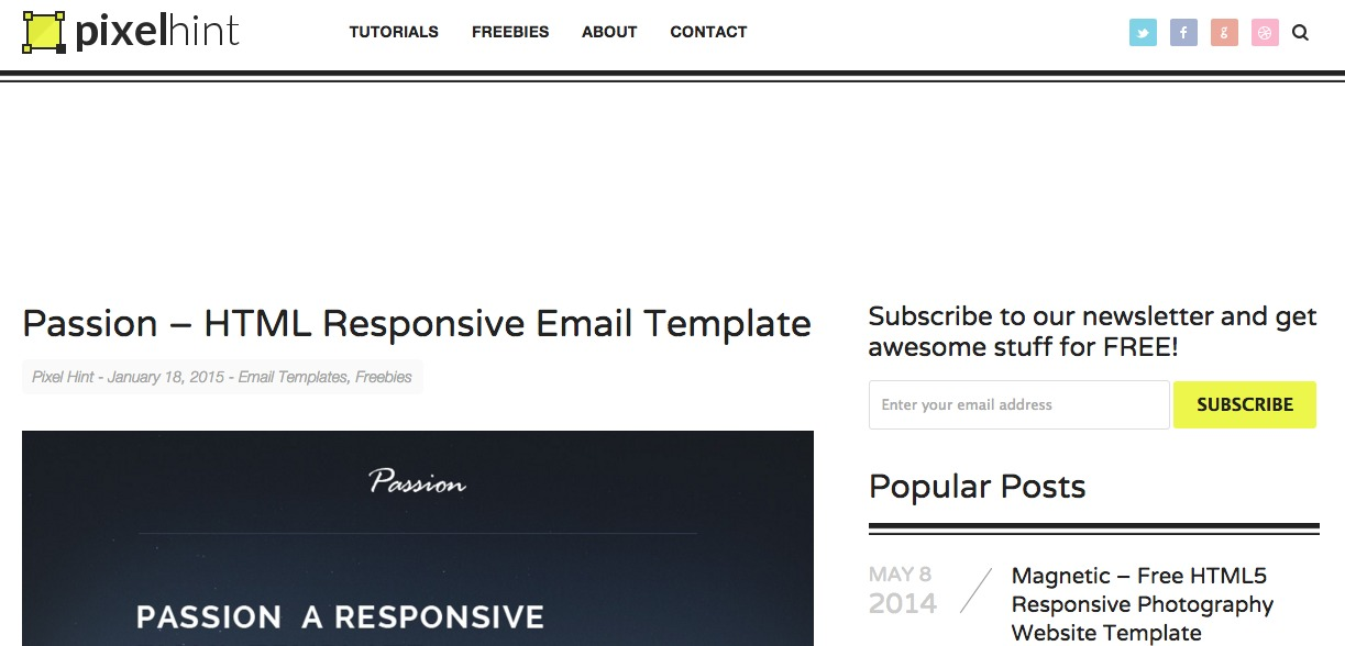 Passion – HTML Responsive Email Template|pixelhint