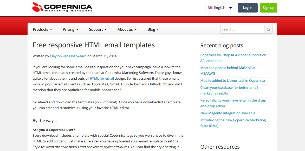 Free responsive HTML email templates|copernica