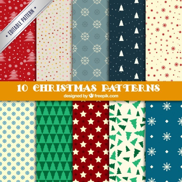 Variety of christmas patterns