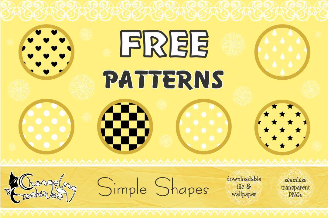 FREE Pattern Pack: Simple Shapes