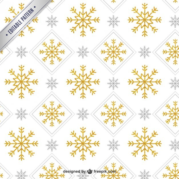 Golden snowflake pattern