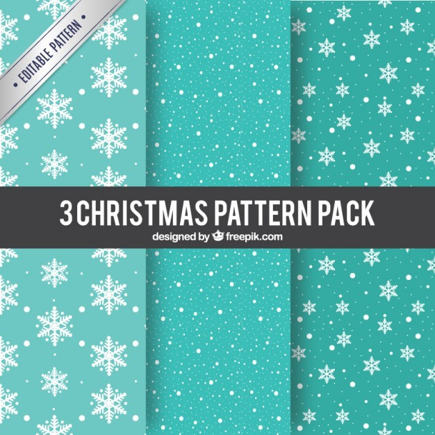 Turquoise christmas patterns
