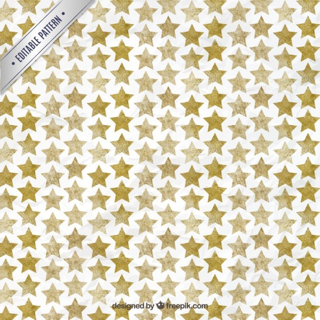 Watercolor Star Pattern