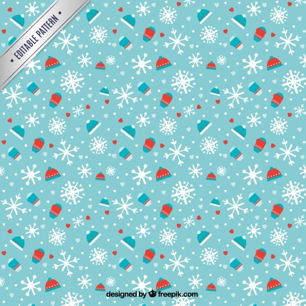 Blue winter pattern