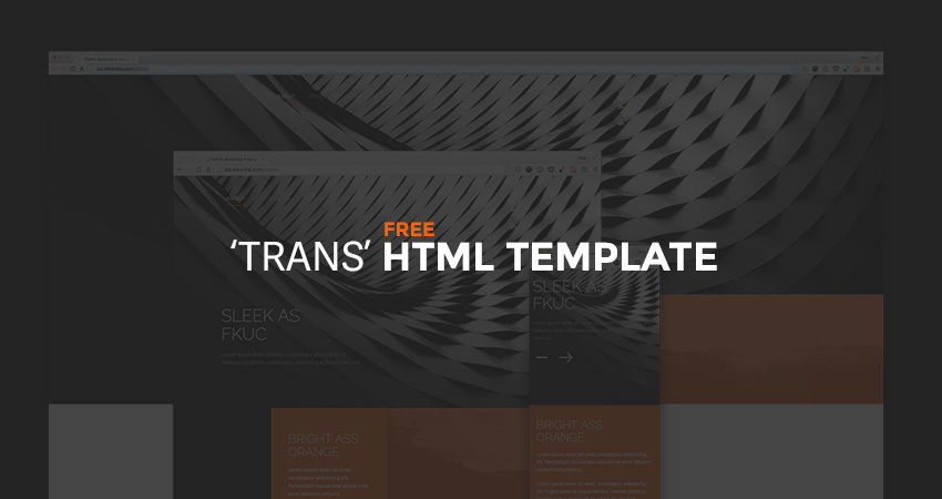 TRANS – FREE HTML TEMPLATE