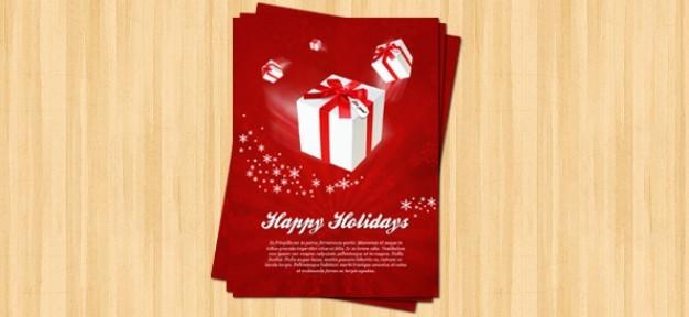 christmas flyer psd template