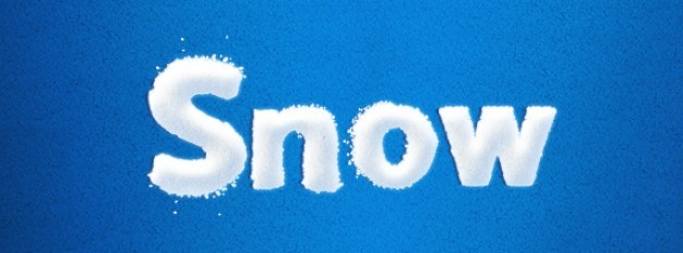 Snowy Christmas Font Layer Style