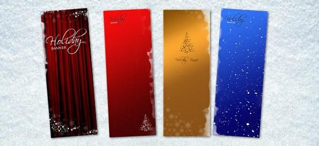 christmas banner psd templates