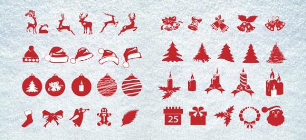 christmas silhouettes mega pack