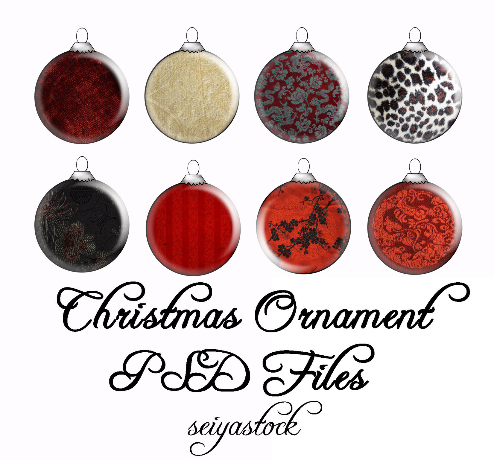 Christmas Ornament psd 1