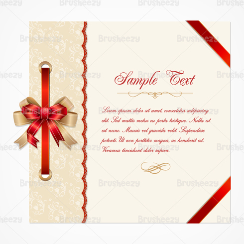 Lace Christmas Card PSD Template