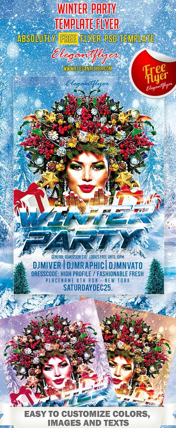 Winter Party – Club and Party PSD Flyer Template
