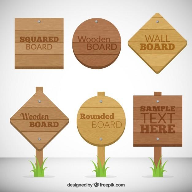 Wooden board signals