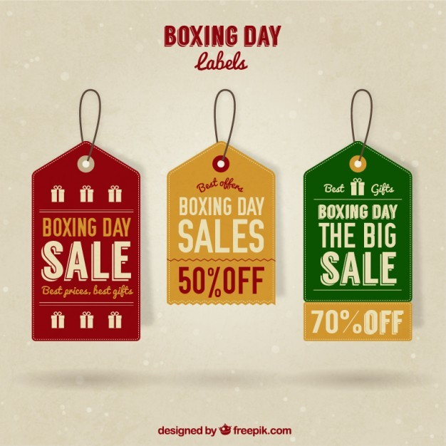 Boxing day sale tags pack