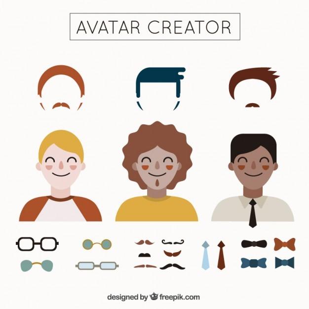 Men's avatar creator