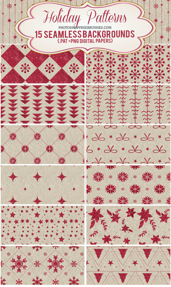 15 Sparkling Red Holiday Patterns and Backgrounds