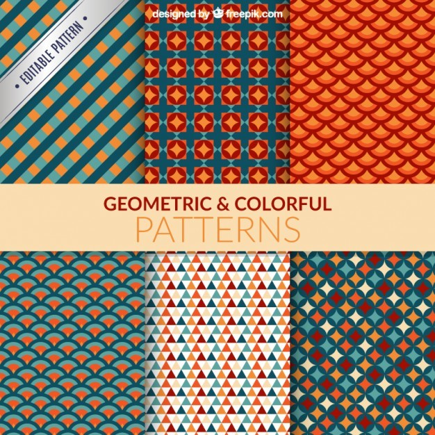 Geometrical and colorful patterns