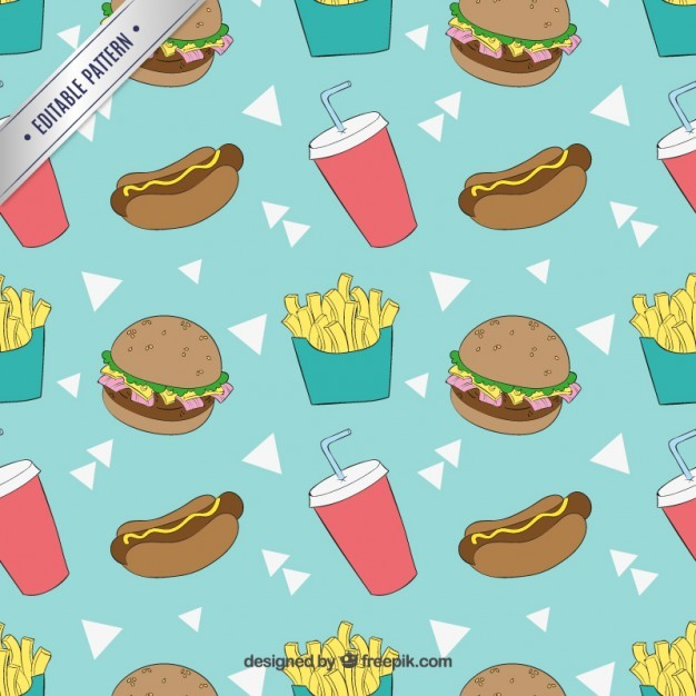 Sketchy fast food pattern