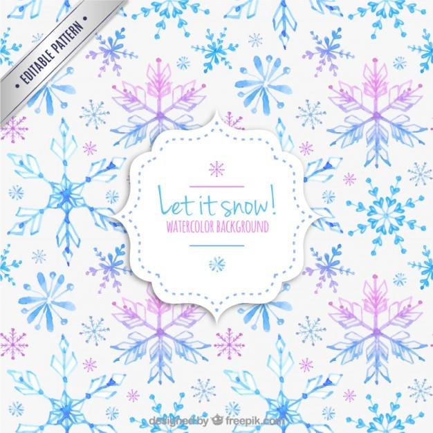 Hand painted snowflakes pattern
