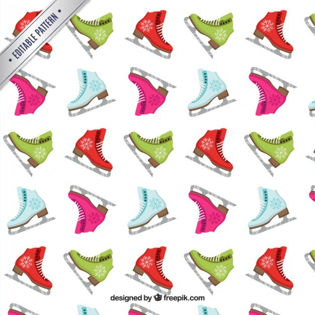 Colorful ice skating pattern