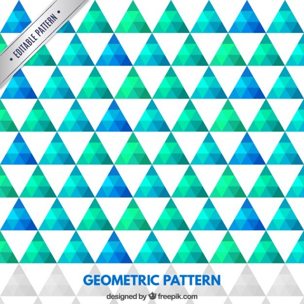 Geometric pattern in green and blue tones