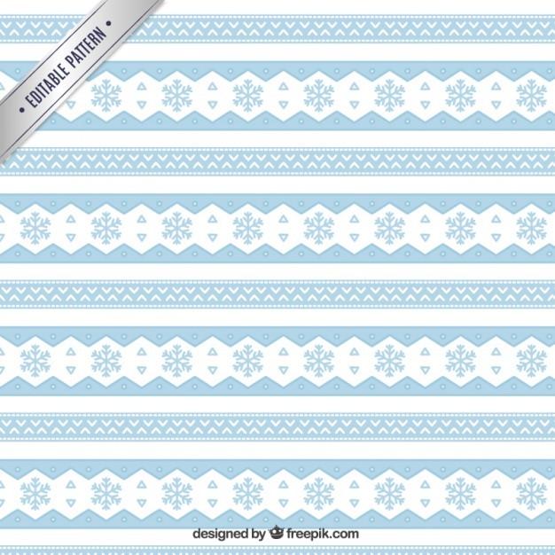 Ethnic snowflakes pattern