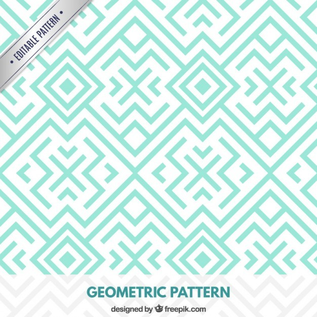 Geometric turquoise pattern