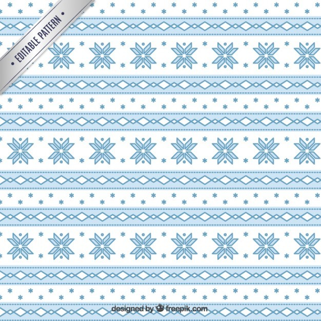 geometric christmas pattern in blue color