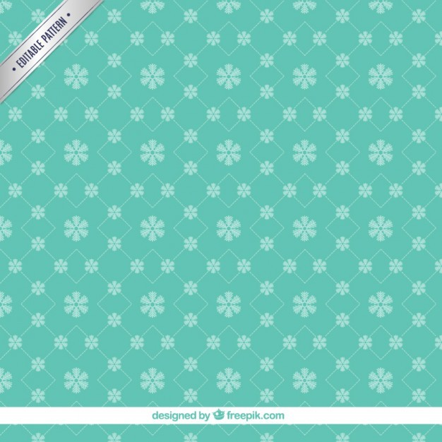 Green snowflakes pattern