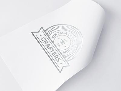 Freebie: Silver Foil Logo Mockup 2