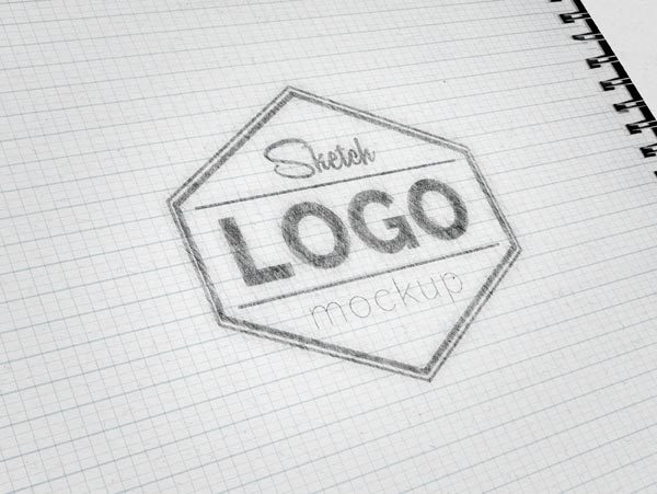 Sketch Logo MockUp PSD