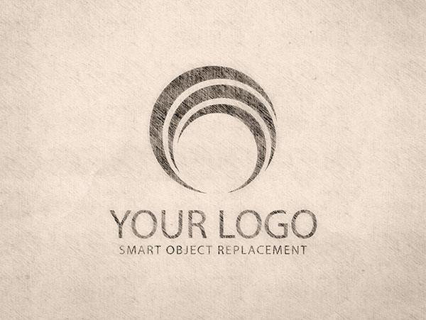 Vintage Logo Sketch MockUp